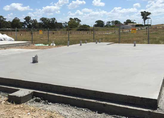 concrete house slab NSW